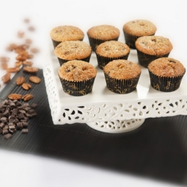 Chocolate And Pecan Muffins With Maple Glaze