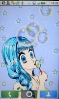Screenshot of Manga Bubble Girl Wallpaper