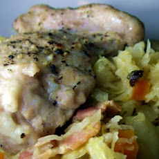 Braised Chicken Thighs With Sauerkraut