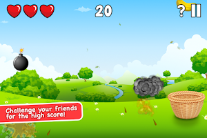 Screenshot of Circus Basket Fruit Catcher