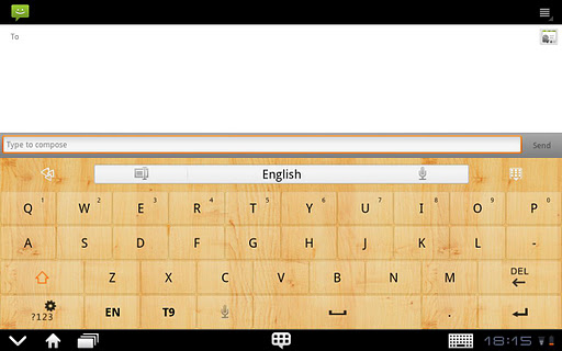 GOKeyboard WoodGraintheme Pad
