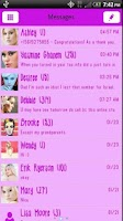 Screenshot of GO SMS THEME Pretty in Pink