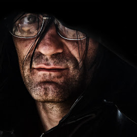 Darken by BO LED - People Portraits of Men ( biker, moto, portrait, black, friend,  )