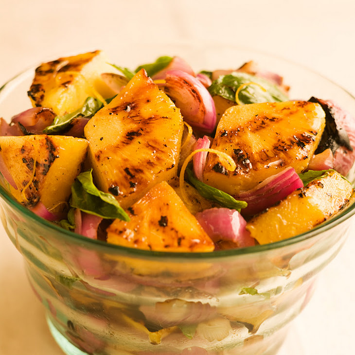 Grilled Pineapple Red Onion Salad Recipe | Yummly