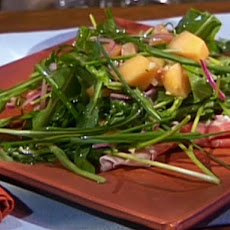 Cantaloupe, Prosciutto and Arugula Salad with Champagne Vinaigrette