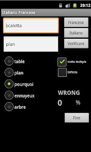 French Italian Dictionary - screenshot