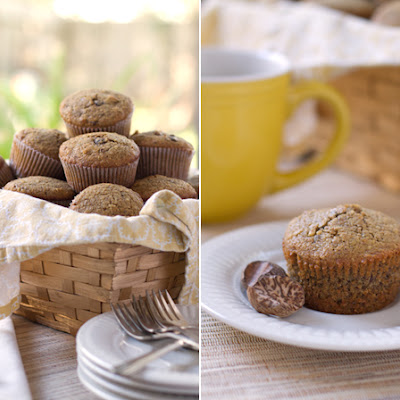 Whole Wheat Pecan & Walnut Nutmeg Muffins