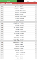 Screenshot of EC 2016 Match schedule +Quali.