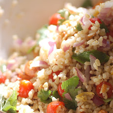 Thai Rice Salad with Peanut Dressing