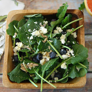 Kale and Blueberry Salad with a Grapefruit Vinaigrette