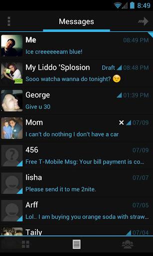 Go SMS Theme Holo Ice Cream