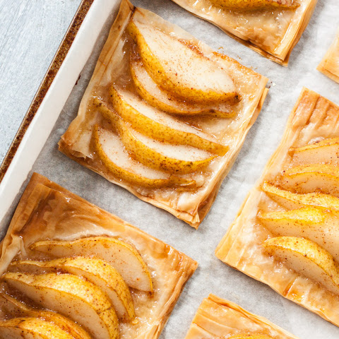 Pear & Honey Phyllo Tarts