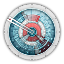 Starship Console Clock Widget