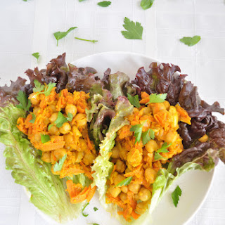 Chickpea Curry Lettuce Wraps