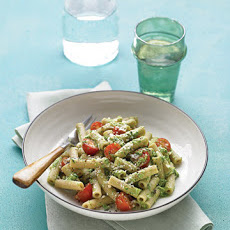 Spinach Pesto with Whole-Wheat Pasta