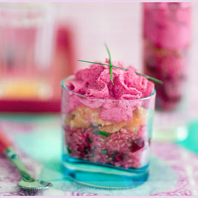 Quinoa and Beet Verrine