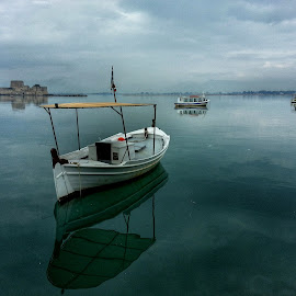Reflection by Eva Ba - Landscapes Waterscapes ( reflection, beutiful, sea, travel, view, boat )
