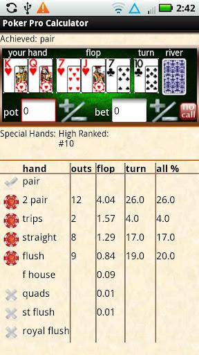Poker Pro Calculator