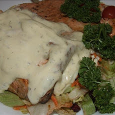Grilled Salmon With Mustard Dill Sauce