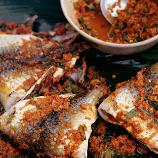 Grilled Snapper with Fresh Turmeric Marinade