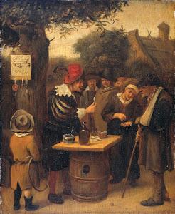 RIJKS: attributed to Jan Havicksz. Steen: painting 1679