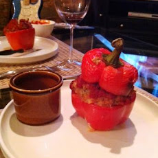 Ground Turkey Stuffed Sweet Bell Peppers