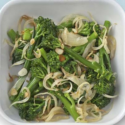 Broccoli With Fried Onion & Garlic