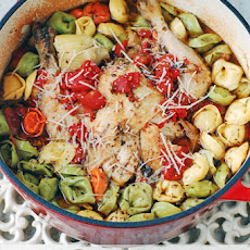 One Pot Roast Chicken and Tortellini – Made in ALDI New Cast Iron Dutch Oven