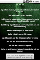 Screenshot of U.S. Marines Rifleman's Creed