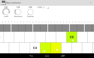 Screenshot of Music Synthesizer for Android