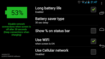 Screenshot of Long Battery Life DEMO