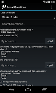 Local Questions and Answers - screenshot