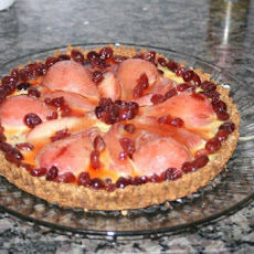 Cranberry Pear Tart With Gingerbread Crust