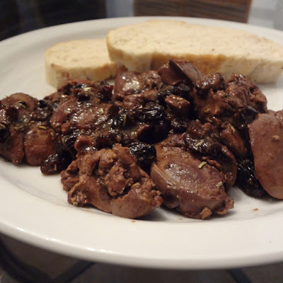 Chicken Livers with Maple Raisin Butter Sauce