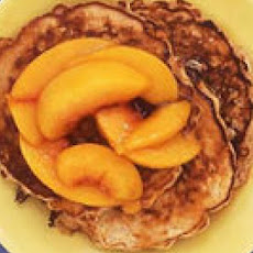 Oatmeal Pancakes with Peach Compote
