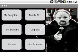 Screenshot of Louis CK Soundboard