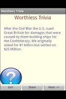 Screenshot of Worthless Trivia