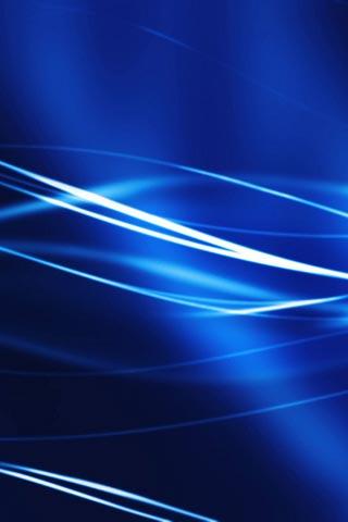 Wavy blue light