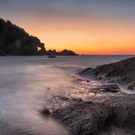 follow me home by Alan Ranger - Landscapes Sunsets & Sunrises ( algenon, hele, info@alanranger.com, devon, www.alanranger.com, seascape, alan ranger )