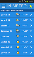 Screenshot of InMeteo