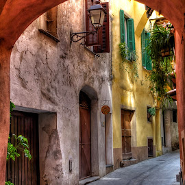 the colors of the village by Roberta Sala - City,  Street & Park  Street Scenes ( hdr, colors, street, dolceacua, italy, city )