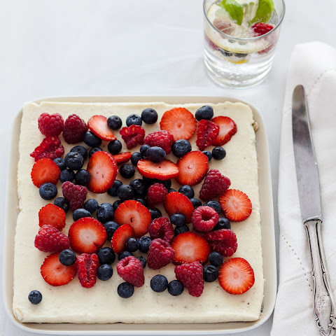 Ricotta Lemon Slice with Summer Berries