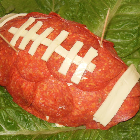 Football Shaped Crab Cheese Ball