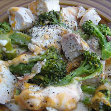Cheesy Broccoli Bacon Chicken Casserole