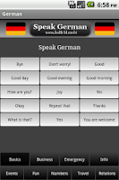 Screenshot of Speak German