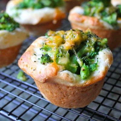 Broccoli Cheddar Biscuit Muffins