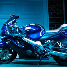 Light Painting by Lester Washington - Transportation Motorcycles ( light painting, cbr, motorcycle, night, honda cbr )