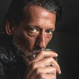 Black Inn by Jervaris Kirkland - People Portraits of Men ( cool, biker, drink )