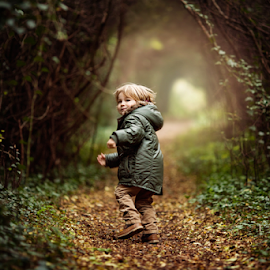 Running through the Woods by Claire Conybeare - Chinchilla Photography - Babies & Children Toddlers