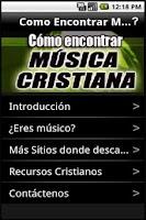 Screenshot of Encontrar Música Cristiana
